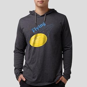 Flying Frisbee Mens Hooded Shirt