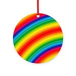 Rainbow Striped Pattern Ornament (Round)