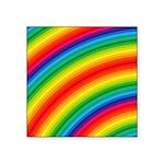Rainbow Striped Pattern Square Sticker 3