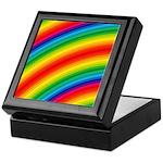 Rainbow Striped Pattern Keepsake Box