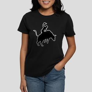 Bull Riding Women's Dark T-Shirt