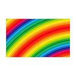 Rainbow Striped Pattern 35x21 Wall Decal