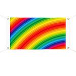 Rainbow Striped Pattern Banner