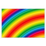 Rainbow Striped Pattern Large Poster