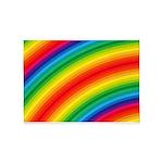 Rainbow Striped Pattern 5'x7'Area Rug