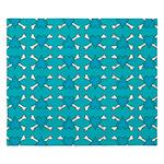 Turquoise Heart and Crossbones Pattern King Duvet