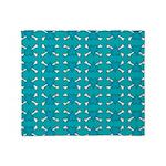 Turquoise Heart and Crossbones Pattern Stadium Bl