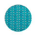 Turquoise Heart and Crossbones Pattern 3.5