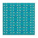 Turquoise Heart and Crossbones Pattern Tile Coaste