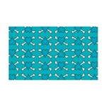 Turquoise Heart and Crossbones Pattern 35x21 Wall