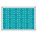 Turquoise Heart and Crossbones Pattern Banner