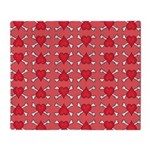 Red Heart and Crossbones Pattern Throw Blanket