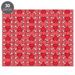 Red Heart and Crossbones Pattern Puzzle