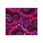 Funky Pink Turquoise Swirl Throw Blanket
