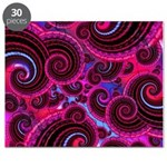 Funky Pink Turquoise Swirl Puzzle
