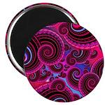 Funky Pink Turquoise Swirl 2.25