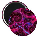 Funky Pink Turquoise Swirl Magnet