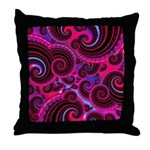 Funky Pink Turquoise Swirl Throw Pillow