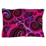 Funky Pink Turquoise Swirl Pillow Case