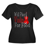 Will Play Violin For Food Women's Plus Size Scoop