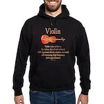 Violin Pitch Approximator Hoodie (dark)