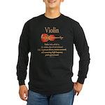 Violin Pitch Approximator Long Sleeve Dark T-Shirt