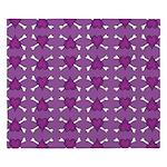 Purple Heart and Crossbones Pattern King Duvet