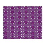 Purple Heart and Crossbones Pattern Stadium Blank