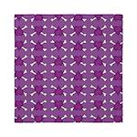 Purple Heart and Crossbones Pattern Queen Duvet