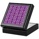 Purple Heart and Crossbones Pattern Keepsake Box