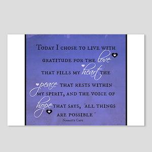 Today I chose Gratitude, Love, Peace, and Hope Pos
