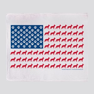 German Shepherd USA American FLAG - Stadium Blank