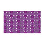 Purple Heart and Crossbones Pattern 35x21 Wall Dec