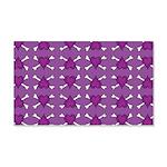 Purple Heart and Crossbones Pattern 20x12 Wall Dec