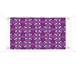 Purple Heart and Crossbones Pattern Banner