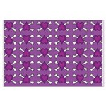 Purple Heart and Crossbones Pattern Large Poster