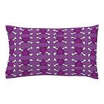 Purple Heart and Crossbones Pattern Pillow Case