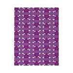 Purple Heart and Crossbones Pattern Twin Duvet