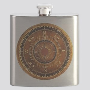 Compass Rose in Brown Flask