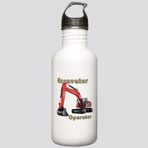 Red Excavator Stainless Water Bottle 1.0L