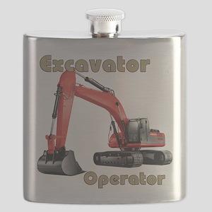 Red Excavator Flask