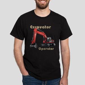 Red Excavator Dark T-Shirt