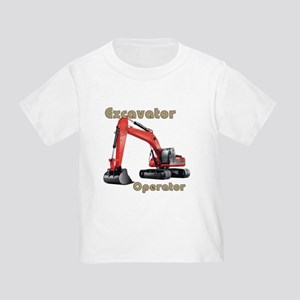 Red Excavator Toddler T-Shirt