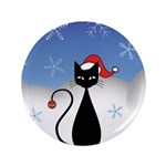 Christmas Cat with Snowflakes 3.5