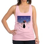 Christmas Cat with Snowflakes Racerback Tank Top