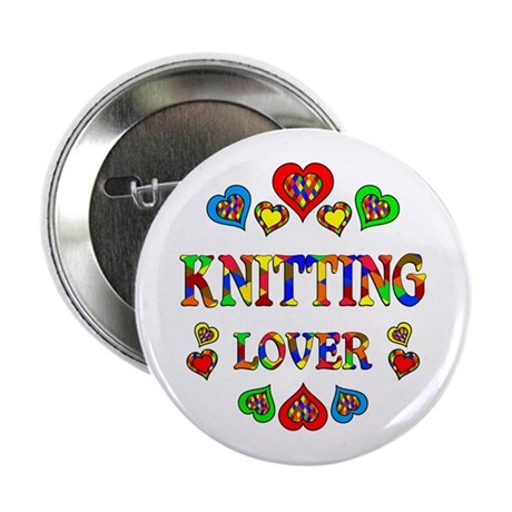 """Knitting Lover 2.25"""" Button"""