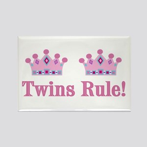Twins Rule! (Girls) Rectangle Magnet