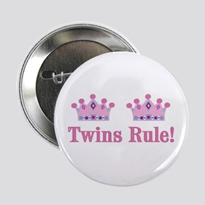 Twins Rule! (Girls) Button