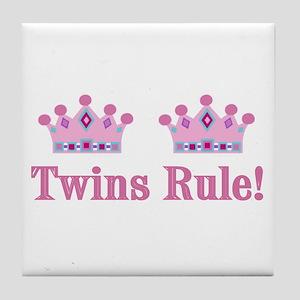 Twins Rule! (Girls) Tile Coaster