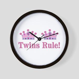 Twins Rule! (Girls) Wall Clock